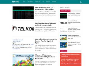 Kentos Dengan Desain Baru, Karisma WordPress Theme