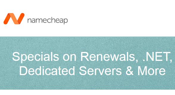 specials promo domain renewal namecheap