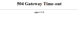 WordPress Muncul Error 504 Gateway Time-Out